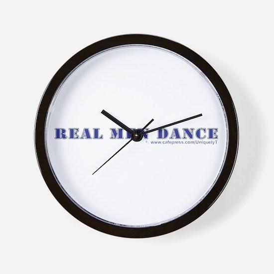 Real Men Dance Wall Clock