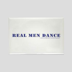 Real Men Dance Rectangle Magnet (10 pack)