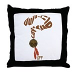 Quil-Clout-Lay Throw Pillow