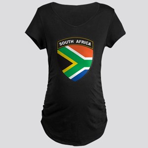 South Africa Emblem Maternity Dark T-Shirt