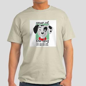 Year of Dog Dalmation Pup Light T-Shirt