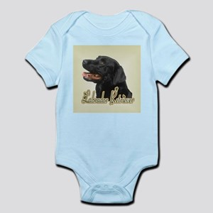 Black Labrador Retriever Infant Bodysuit