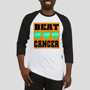 Beat Cancer! Live Love Win! Baseball Jersey