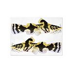 Piebald madtom catfish 5'x7'Area Rug