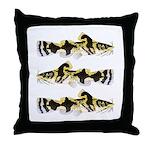 Piebald madtom catfish Throw Pillow