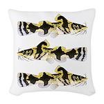 Piebald madtom catfish Woven Throw Pillow
