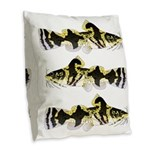 Piebald madtom catfish Burlap Throw Pillow