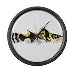 Piebald madtom catfish Large Wall Clock