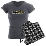Piebald madtom catfish Women's Charcoal Pajamas