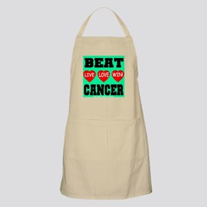 Beat Cancer! Live Love Win! BBQ Apron