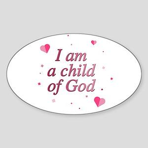Child of God Oval Sticker