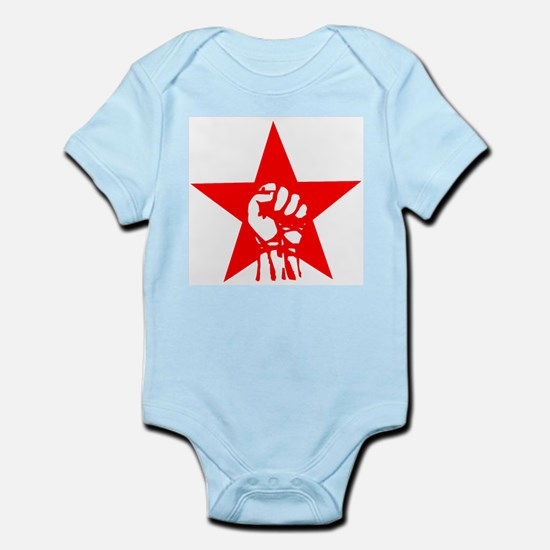 Red Star Fist Infant Creeper
