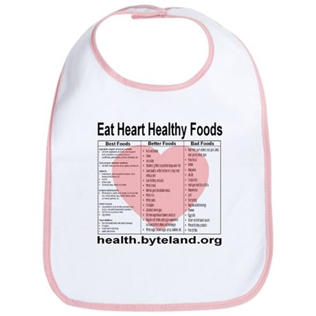 Eat Heart Healthy Foods Bib
