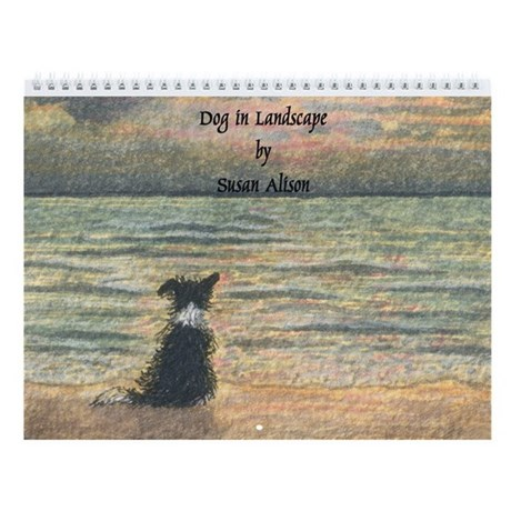 Border Collie Landscape Wall Calendar