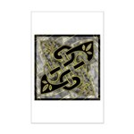Celtic Dark Sigil Mini Poster Print
