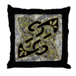 Celtic Dark Sigil Throw Pillow