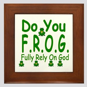Do you F.R.O.G. Framed Tile