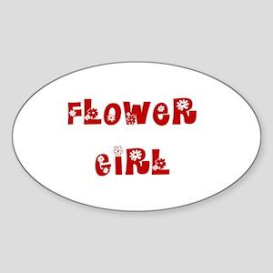 Hippie Red Oval Sticker