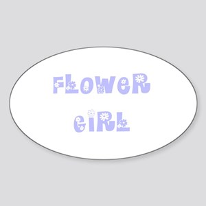 Hippie Periwinkle Oval Sticker