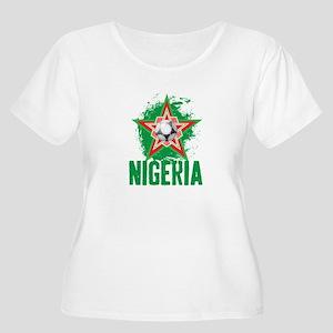 NIGERIA STAR Women's Plus Size Scoop Neck T-Shirt