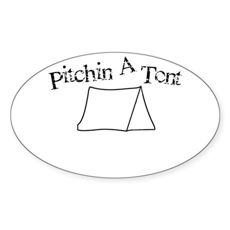 Pitchin A Tent Sticker (Oval)  sc 1 st  CafePress & Boner Dick Funny Hobbies Gift Ideas | Boner Dick Funny Hobby Gifts ...