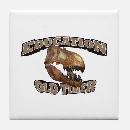 Education Old Timer Tile Coaster
