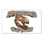 Nursing Old Timer Sticker (Rectangle)