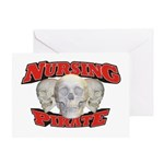 Nursing Pirate Greeting Card