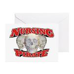 Nursing Pirate Greeting Cards (Pk of 20)