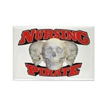 Nursing Pirate Rectangle Magnet