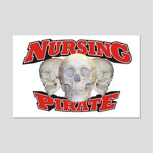 Nursing Pirate Mini Poster Print