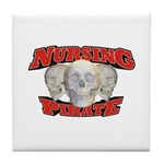 Nursing Pirate Tile Coaster