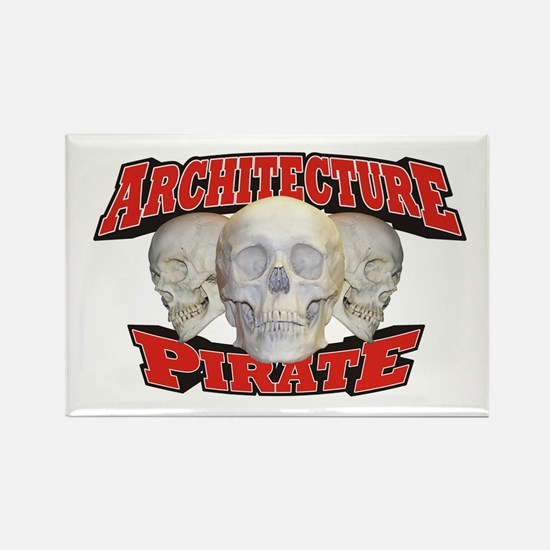 Architecture Pirate Rectangle Magnet (10 pack)