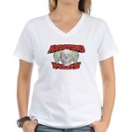 Auditing Pirate Women's V-Neck T-Shirt