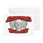 Auditing Pirate Greeting Card