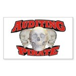 Auditing Pirate Sticker (Rectangle 10 pk)