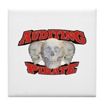 Auditing Pirate Tile Coaster