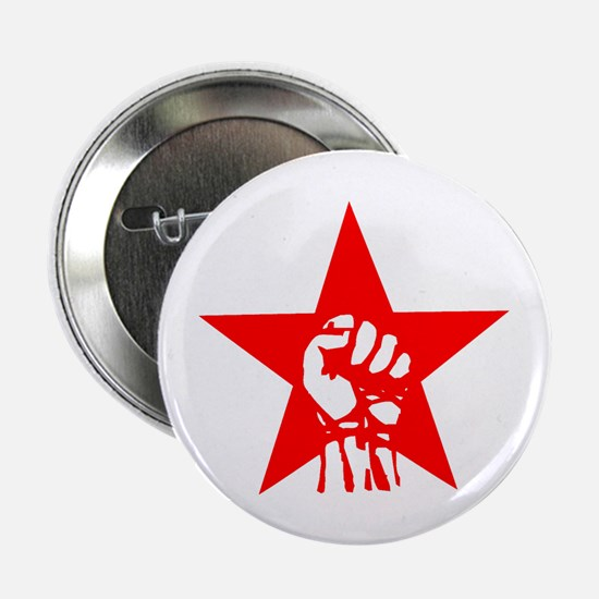 Red Star Fist Button