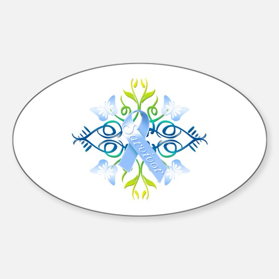 Blue Survivor Sticker (Oval)