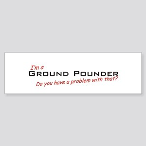 Ground Pounder/Problem! Sticker (Bumper)
