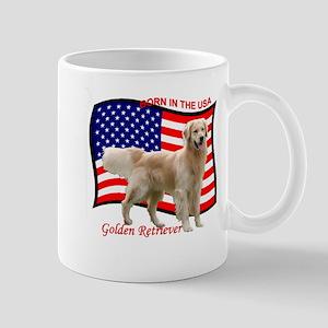 Golden Retriever Patriotic Mug