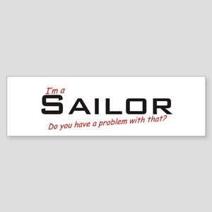 Sailor/Problem! Sticker (Bumper)