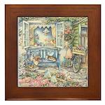 Kim Jacobs' Blue Garden Bench Framed Tile