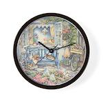 Kim Jacobs' Blue Garden Bench Wall Clock