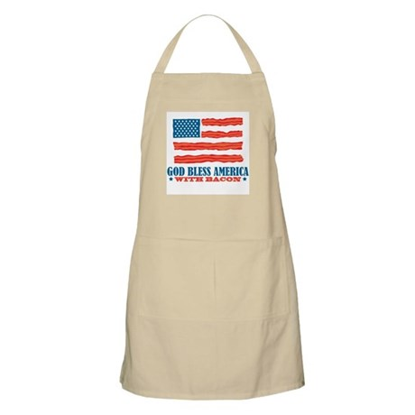 God Bless America With Bacon Apron