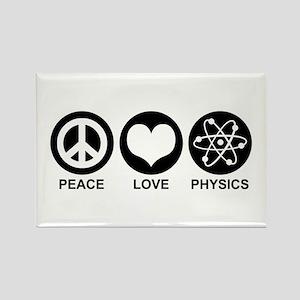 Peace Love Physics Rectangle Magnet
