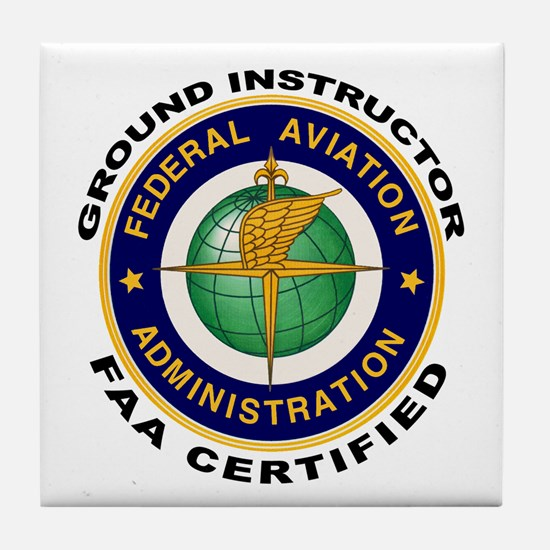 FAA Certified Ground Instructor Tile Coaster