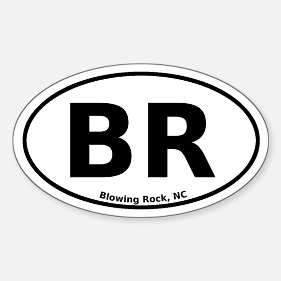 Blowing Rock, NC Euro Sticker (Oval)