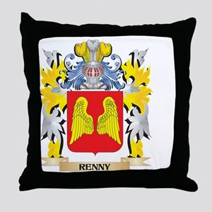 Renny Family Crest - Coat of Arms Throw Pillow
