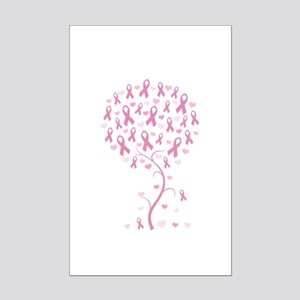 Pink Ribbon Breast Cancer Tre Mini Poster Print